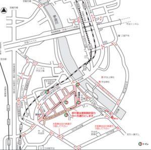 県祭り2019の交通規制
