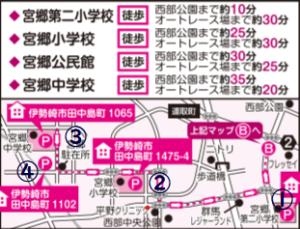 伊勢崎花火大会の駐車場