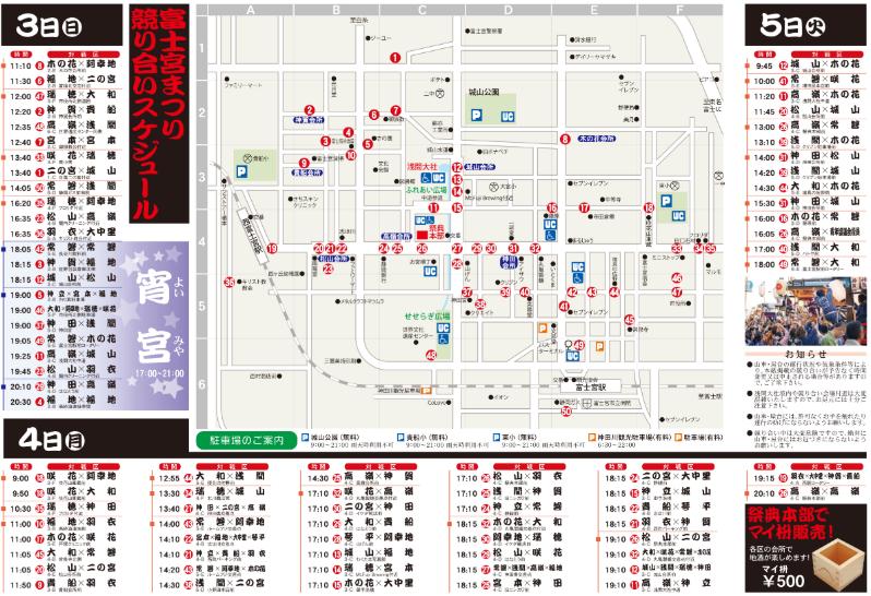 富士宮祭り2019競り合いの時間と場所