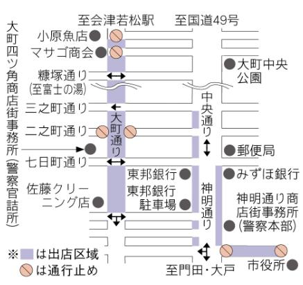 会津若松の十日市2020 交通規制